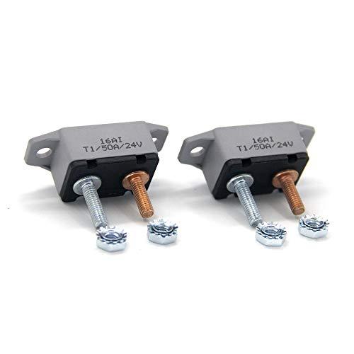 - ZOOKOTO 2pcs 12-24V 50 Amp ATV AUTO Resettable Circuit Breaker Fuse holder 50A