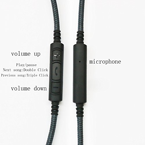 70cm(2.2ft) 3.5mm Male to 3.5mm Female Headset Earphone Headphone Adapter Extension Cable with Remote & mic Compatible with iPhone itouch ipad and Most of Android Phone by NEW NEOMUSICIA (Image #2)