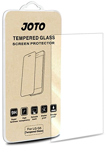 LG G5 Tempered Glass Screen Protector - JOTO LG G5 Tempered Glass Screen Protector Film Guard, 0.30 mm Rounded Edge Real Glass Screen Protector for LG G5 (2016) (1 - Skin Crystal Case Car Charger