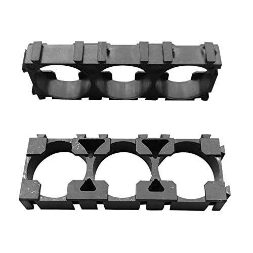 Lznlink 50 Pcs 1x3 Cell Spacer 18650 Li-ion Battery Holder Plastic Radiating Shell Rack Cylindrical Batteries Bracket Fixture