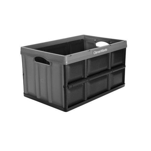 Clever Crates 62-L/16.3-Gl Folding Crate, Graphite