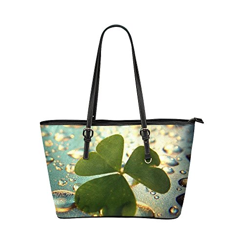 lucky-clover-womens-pu-leather-large-tote-bag-handbag-shoulder-bag