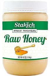 Stakich RAW HONEY - 100% Pure, Unprocessed, Unheated, KOSHER - 40 OZ