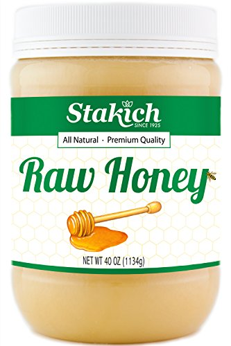 - Stakich RAW HONEY - 100% Pure, Unprocessed, Unheated, KOSHER (40 Ounce)