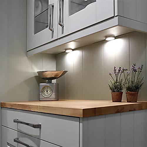 Under Cabinet LED Lighting Jestar 3PCS Under Cabinet Lighting Kit 600 Lumens Wall Plug in Motion Activated DC 12V Kitchen Lighting, Closet Lights, 6000K Daylight