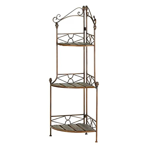 Classic 3 Tier Foldable Corner Baker's Rack 47'' H x 14'' W x 14'' D by by August Grov