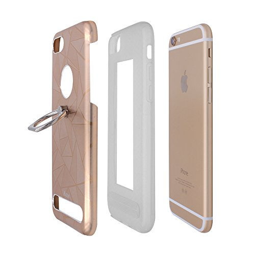 Iphone 7 Plus Case Vogue Design Chic Ultra Rad Pyramid Stylish Diamond Pattern Aluminum Alloy Metal Flexible Protective Tpu Drop Resistant Cover With Holder For Apple  4 7Inch   7P Gold