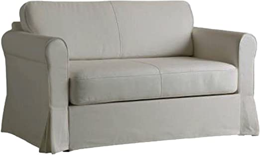 The Heavy Cotton Hagalund Two Seat Sofa Bed Cover Replacement Is Custom Made For Ikea Hagalund Slipcover A Sofa Bed Or Sleeper Couch Replacement Lighter Gray Amazon Ca Home Kitchen