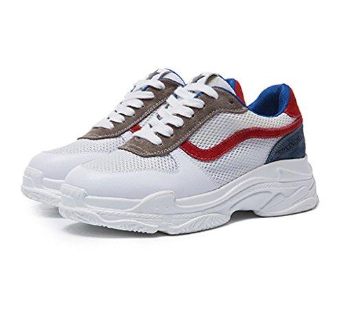 Zapato y Aire Zapatos Libre Zapatos Platform Spring Rojo Verde Shoed Deportivo Summer Deportes para 35 Rojo Comfort Mujer de Mujer Shoes 39 Fxfg8wq