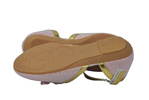 La Party Rose Girl's Soirée With Jeune Shiny Shoes Avec Boucle Chaussures Brillant De Fille Pink De Buckle HnCCvqwxB