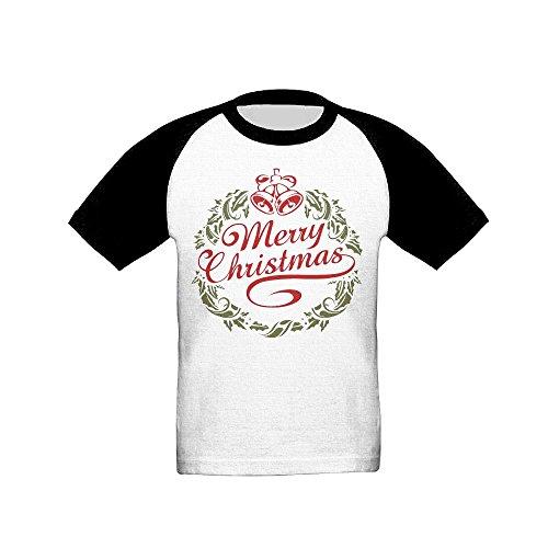 GaoXIN Merry Christmas1 Baby Infants Kids Baseball Short Sleeve Raglan Tshirt 5-6 Toddler