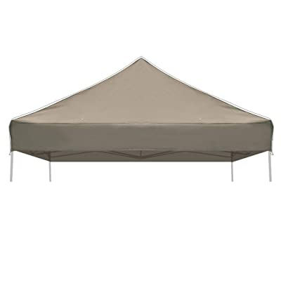Strong Camel Pop up 10'X10' Canopy Replacement Top Ez Gazebo Replacement Canopy Top (Taupe): Garden & Outdoor