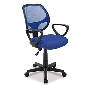 Acaza Chaise de Bureau, Siège à roulettes avec Hauteur réglable – Bleu