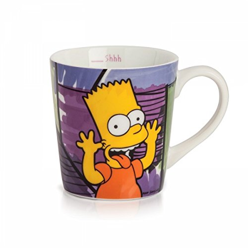 Taza de Bart Simpson, Porcelana https://amzn.to/2Ihlec1