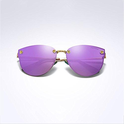 Gafas Aire sol de Marco de Metal sol Gafas Gafas SEEKSUNG® de Deportes de Gafas Conducción Morado rosa Nocturna Diamante polarizadas Rosa Libre Visión al Gafas de qnqwIpYP
