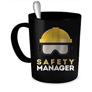 Safety Manager Coffee Mug. Safety Manager gift 11 oz. black 111