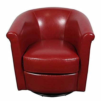 Fantastic Amazon Com Porter Marvel Red Swivel Barrel Accent Chair Unemploymentrelief Wooden Chair Designs For Living Room Unemploymentrelieforg