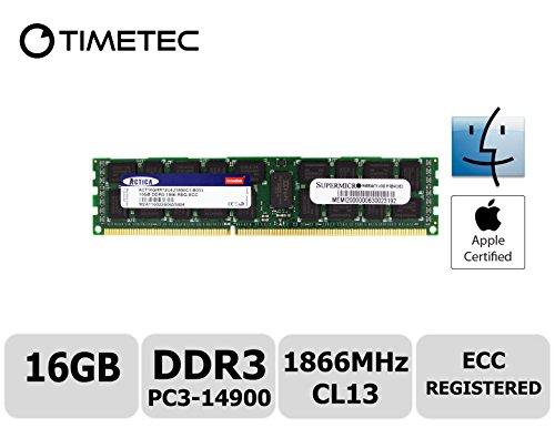 Timetec Supermicro Compatible Apple 16GB DDR3 1866MHz PC3-14900 Registered ECC RDIMM Server Memory RAM Module Upgrade for Mac Pro Late 2013 A1481 MQGG2LL/A MD878LL/A ME253LL/A (16GB)