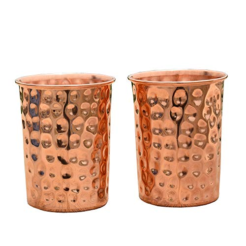 HealthAndWealth - Hammered Pure Copper Tumbler Set for sale  Delivered anywhere in USA