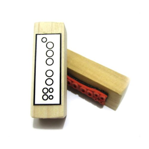 Bass Recorder Great (Recorder Fingering Rubber Stamp)