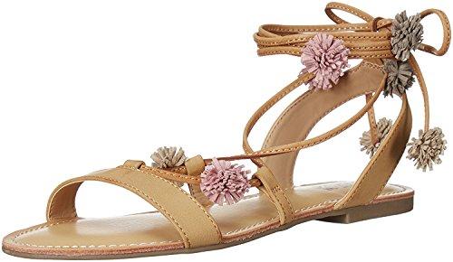 Carlos by Carlos Santana Women's Gia Flat Sandal, Sand Beige, 7.5 Medium US (Carlos Santana Ankle Strap Sandals)