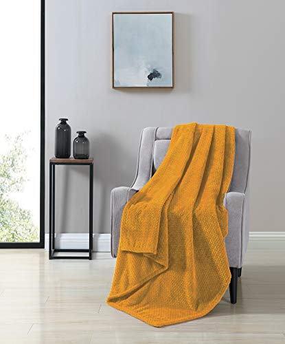 VCNY Home Victoria Throw Blanket, Gold