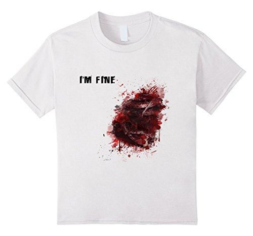 Kids I'm Fine Wound Injury T-Shirt Cool Halloween Costume Gift 4 White (4 People Costume Ideas)