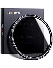 67mm K&F Concept Professional ND Fader Variable Neutral Density Adjustable Adjustable ND Filter (ND2 to ND400) Canon 7D 700D 600D 70D 60D 650D 550D for Nikon D7100 D80 D90 D7000 D5200 D3200 D5100 D3200 D5300 DSLR Cameras + Lens Cleaning Cloth