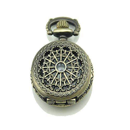 FeliciaJuan Spider Web Pocket Watch Necklace Retro Fashion Classic Reloj de Bolsillo Colgante (sin Cadena)