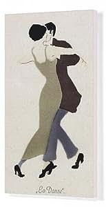 Impresión de Lienzo de pareja bailando. La Danse sayal. Hombre y mujer con un tacón