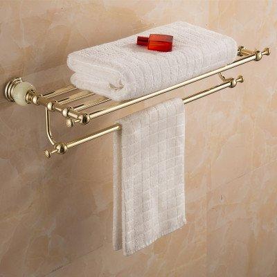 Towel Rack Mangeoo European Jade Bath Towel Rack, Bathroom Towel Rack, golden Bath Rack,Towel Ring