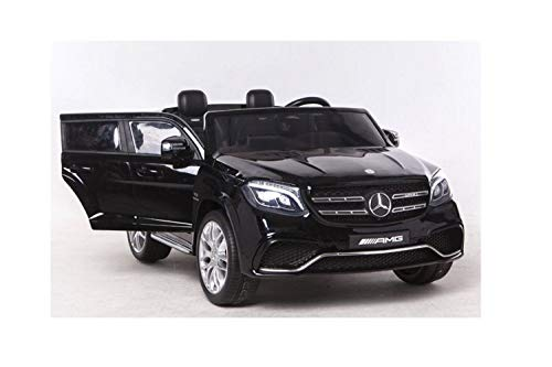 KIDS VIP 2X12V Limited Licensed Mercedes Benz GLS Series 2 Seater Kids Ride On Car, Toy, SUV -Doors,Music, Lights, Leather, Remote ()