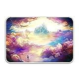 saletopk Doormat Dream Amusement Park Painting Entryway Door Mat for Patio, Front Door,Decorative All-Season 15.7' X 23.5'