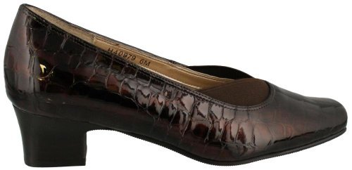 Women's Ros Hommerson, Liv low heel dress Pump BROWN CROC 7 S -