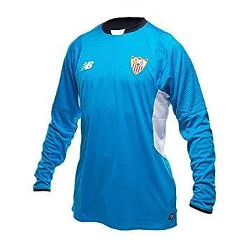 New Balance Camiseta Sevilla FC Portero Segunda Equipación 15-16 Blue-White Talla L: Amazon.es: Deportes y aire libre