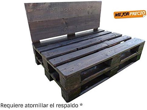 1 x Sofá Hecho con Palets de madera Color Nogal - Requiere ...