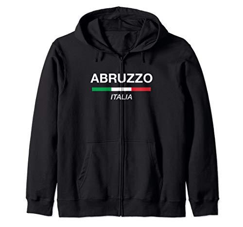 Abruzzo Italian Name Family Surname Gift Italy Flag Italia Zip Hoodie