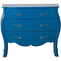 Pulaski Royal Blue French Three Drawer Chest, Medium