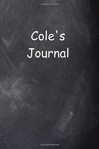 Read Online Cole Personalized Name Journal Custom Name Gift Idea Cole: (Notebook, Diary, Blank Book) (Name Personalized Journals Notebooks Diaries) pdf epub