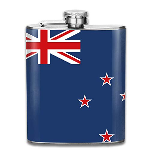 Men and Women Thick Stainless Steel Hip Flask Outdoor Mini Portable Badge and British Flag Portable Adult Pocket Flagon Whiskey Container Flask Pocket 7 Oz 304 Thick for Unisex