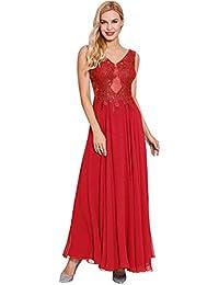 Womens Straps V Neck Prom Gown A-line Evening Dresses