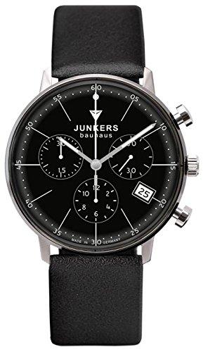 Junkers Bauhaus Lady Quartz Watch, Black, 35 mm, Chronograph, 6089-2