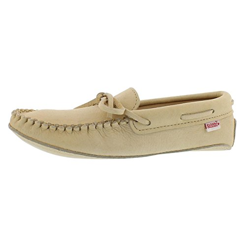 SoftMoc Men's Double Sole Caribou Moccasin Natural 12 M US - Deerskin Moccasin