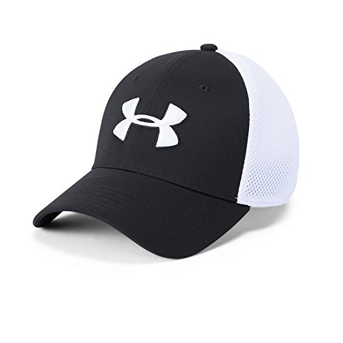 Under Armour Men's Microthread Golf Mesh Cap, Black (001)/White, Large/X-Large