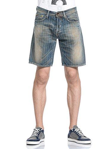 GAS Herren Bermuda Shorts Raf Chalk Denim Blue W626