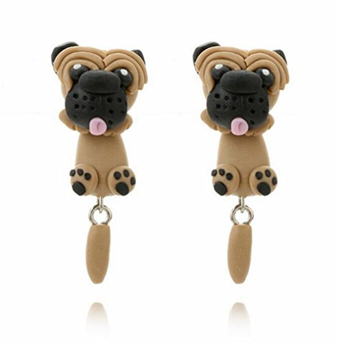 (EdtoyCartoon Fashion Animal Clay Earrings Europe and the United States Personality Soft Earring (Shar)