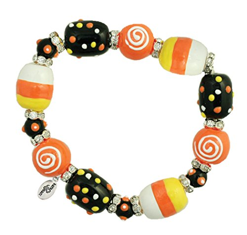 Clementine Design Kate & Macy Trick R Treat Bracelet Painted Glass Beads - Macy's Crystal Glasses