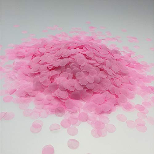 Pink Confetti 10mm Tissue Paper Confetti Party or Wedding Decoration Pack of 3000 Pieces]()