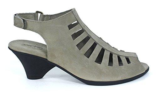 Arche Mujeres Exor Open-toe Pump Gray 1