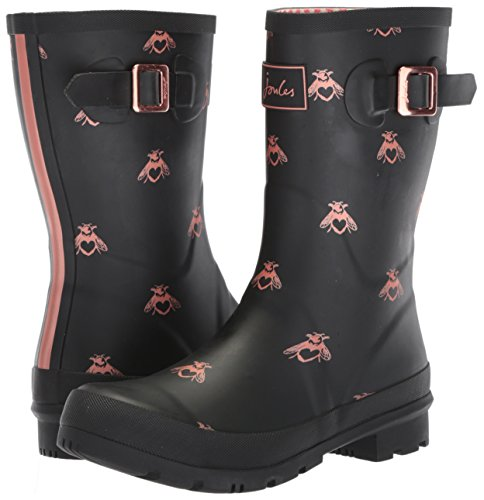 Joules Women's Mollywelly Rain Boot, Black Love Bees, 9 Medium US by Joules (Image #6)
